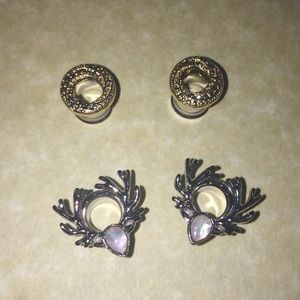 Jewelry - Flared fashion saddle plugs